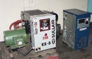 25HP Motor Sullair ES-8-25H/AC AIR COMPRESSOR, w/ Premier