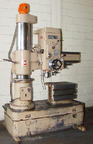 3 Arm Lth 9 Col Dia Ikeda RMS-9 RADIAL DRILL, 3 HP,#4MT, Box